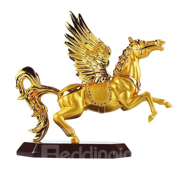 Fabulous Golden-Plated Flying Horse Wine Rack