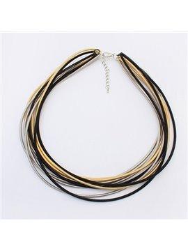 Women' s Fashion Multi-layer Alloy Strand Necklace
