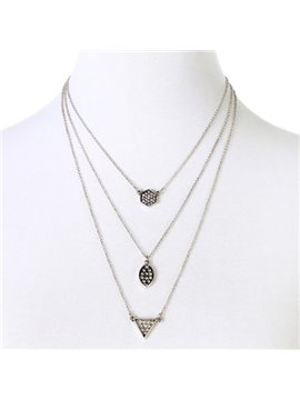 Women' s Fashion Diamante Alloy Strand Necklace