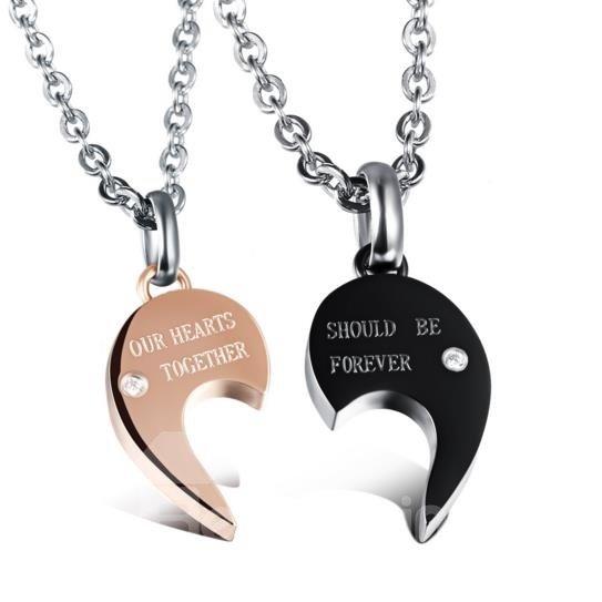 Lover' s Heart Shape Titanium Steel Pendant