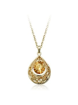 Women' s Crystal Angel Water drop Pendant Necklace