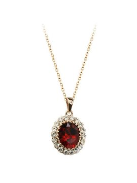 Women' s Amazing Diamante Crystal Pendant Necklace
