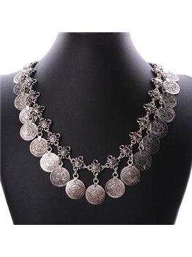 women' s Vintage Ally Circle Pendant Necklace