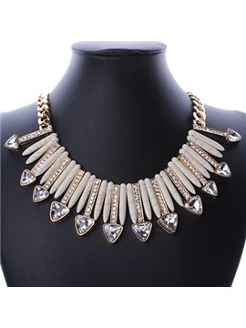 women' s Colorful Crystal Beads Statement Necklace
