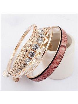 Women's Muliti-Layer Crstal Pendant Bracelet