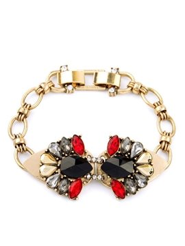 Women's Vintage Drop Gemstone Bracelet