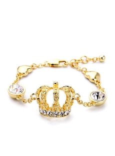 Women's Vintage Diamante Crstal Crown Bracelet