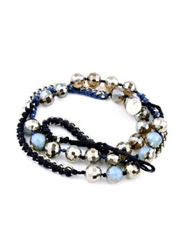 Women's Crystal Beads Knitting Bracelet