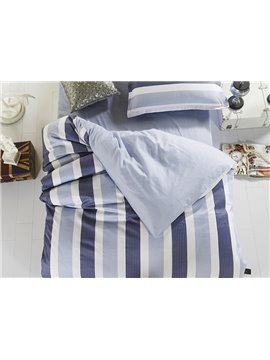 Simple Style Stripes Pattern Cotton Kids 3-Piece Duvet Cover Sets