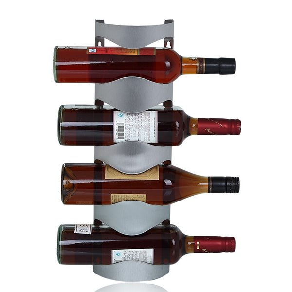 Fantastic Stainless Steel Wall Mount Wine Rack