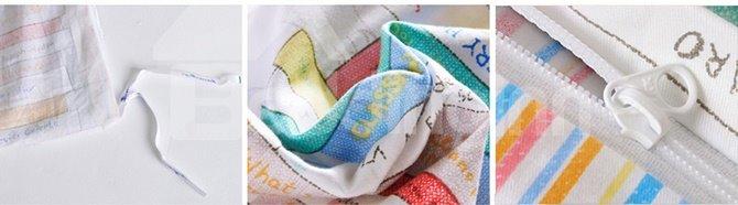 Reading Theme Plaid Pattern 3-Piece Purified Cotton Kids Duvet Cover Sets