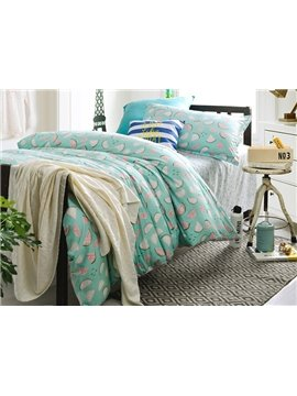 Lively Melon Pattern 3-Piece Purified Cotton Kids Duvet Cover Sets