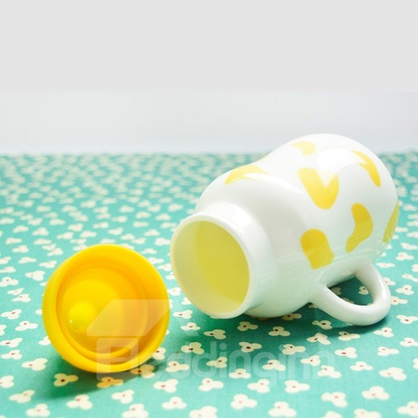 Creative Cute Cartoon Nipple Milk Cup Design Ceramic Milk Cup