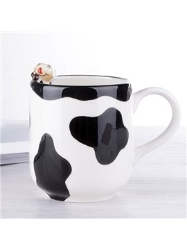 Unique 3D Cow Design Ceramic Coffee Mug