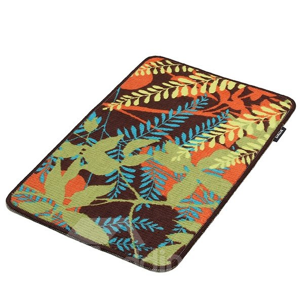 Fantastic Abstract Plant Pattern Non-Slip Doormat