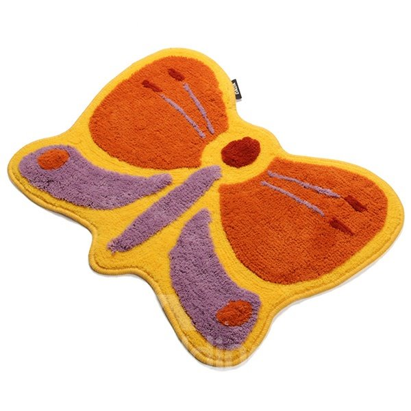 Fabulous Cartoon Butterfly Design Non-Slip Kidsroom Doormat