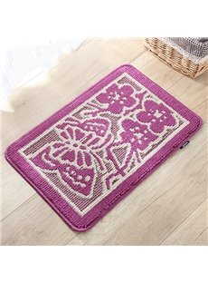 Wonderful Butterfly and Flower Pattern Non-Slip Doormat
