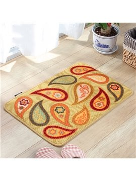 Classic Paisley Pattern Anti-Slipping Doormat