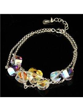 Women' s Fashion Multi-layer Austria Crystal Bracelet