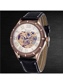 Men's Vintage Skeleton Automatic Self-Winding Watch