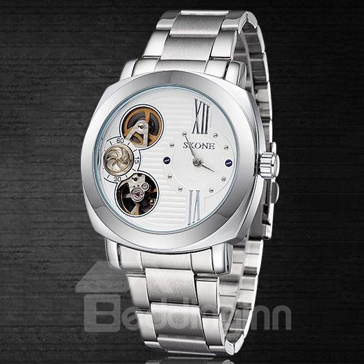 Mens Quality Skeleton Mechanical Manual Winding Watch