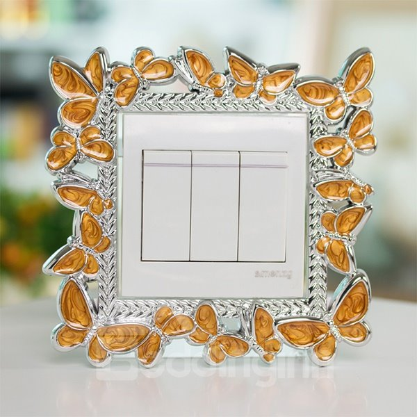 Gorgeous Butterfly Design Switch Decoration 3D Wall Sticker
