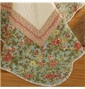 European Style Small Flowers Green 3-Piece Cotton Bed in a Bag
