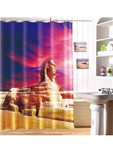 New Arrival Egypt Nile River Pyramid Sphinx Polyester Shower Curtain