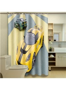 Chic Modern Luxurious Vehicle Image Dacron 3D Shower Curtain