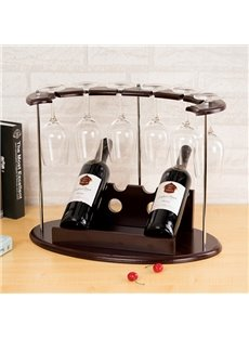 Creative Moon Design Wood 2-Bottle Wine Rack & Bottle Holders