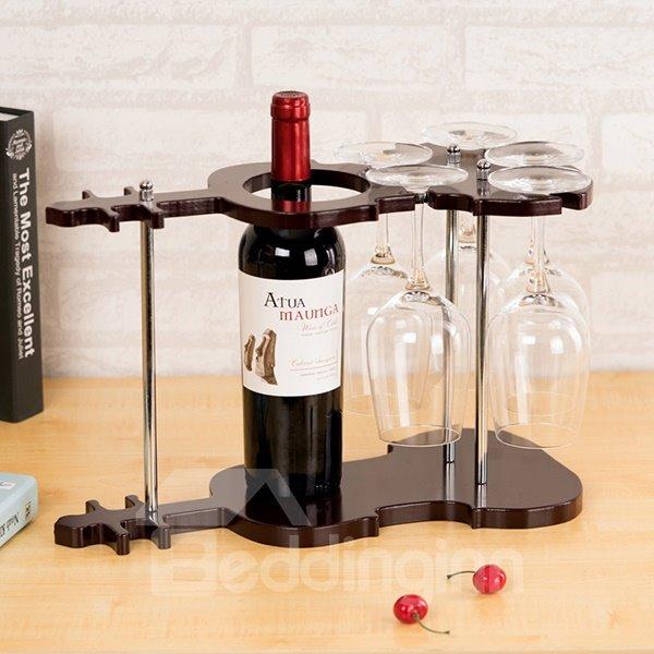 Fantastic Violin Design 1-Bottle Wine Rack & Bottle Holders