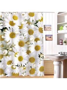 Fresh Style Marguerite Image 3D Shower Curtain
