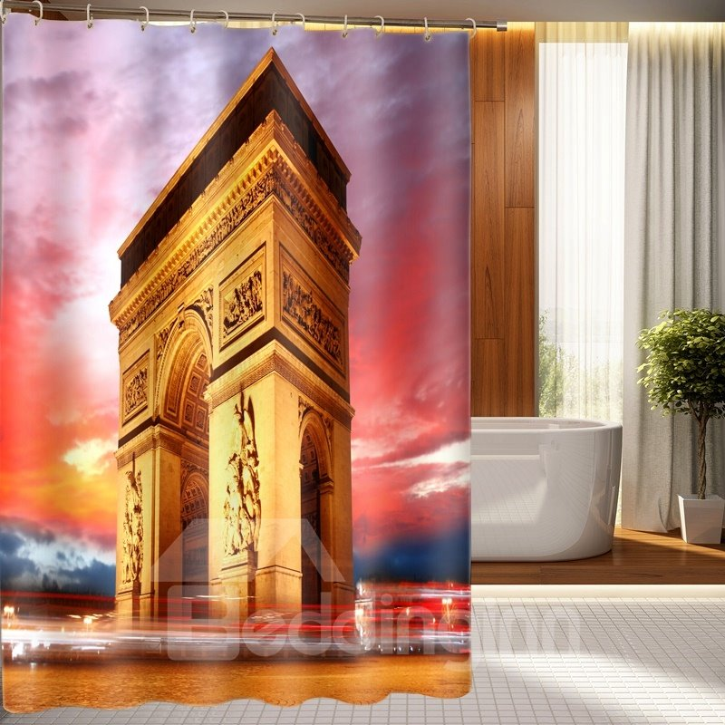 Magnificent Triumphal Arch Pattern Polyester 3D Shower Curtain