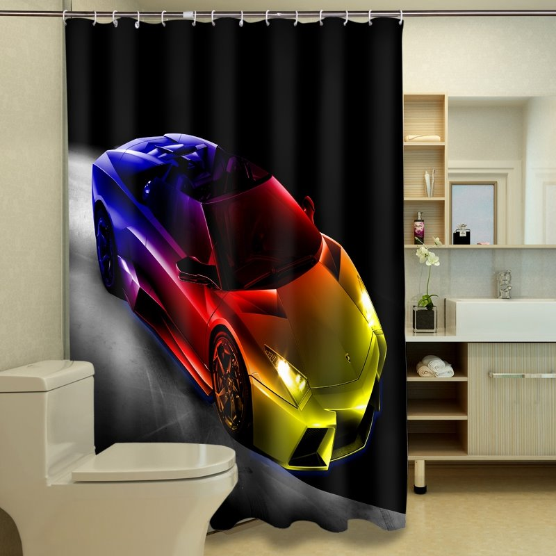 Unique Style Gorgeous Car Image 3D Shower Curtain