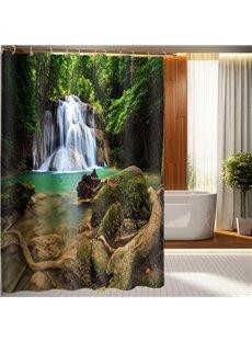 Top Grade Beautiful Waterfall Print 3D Shower Curtain