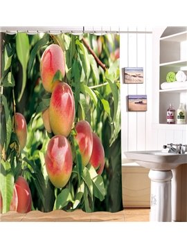Special Design Peach Tree Image 3D Shower Curtain