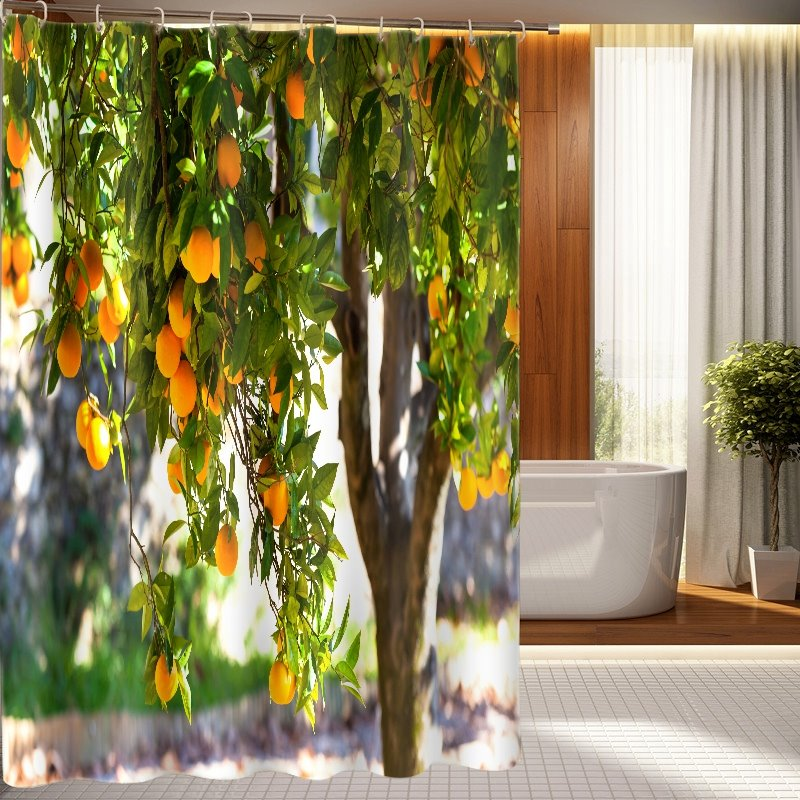 Top Grade Splendid Fruit Bearing Tree 3D Shower Curtain