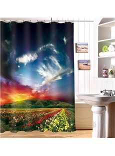 Attractive Natural Scenery 100% Polyester 3D Shower Curtain