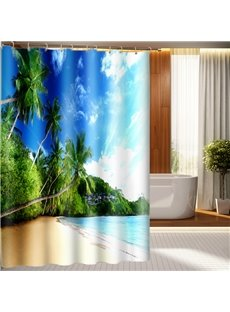 High Quality Attractive Beach Scenery 3D Shower Curtain