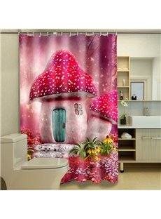 Distinctive Dreamy Strawberry House Pattern 3D Shower Curtain