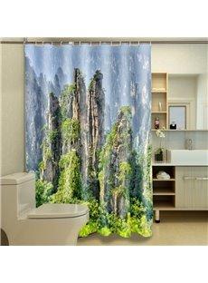 Charming 3D Vivid Landscape Image 3D Shower Curtain