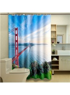 Special Design Golden Gate Bridge Waterproof 3D Shower Curtain