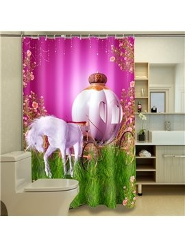 Creative Design Fancy Horse-drawn Trolley 3D Shower Curtain