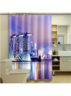New Arrival Fascinating Seaside Metropolis 3D Shower Curtains