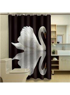 Graceful Lonely Swan Waterproof 3D Shower Curtain