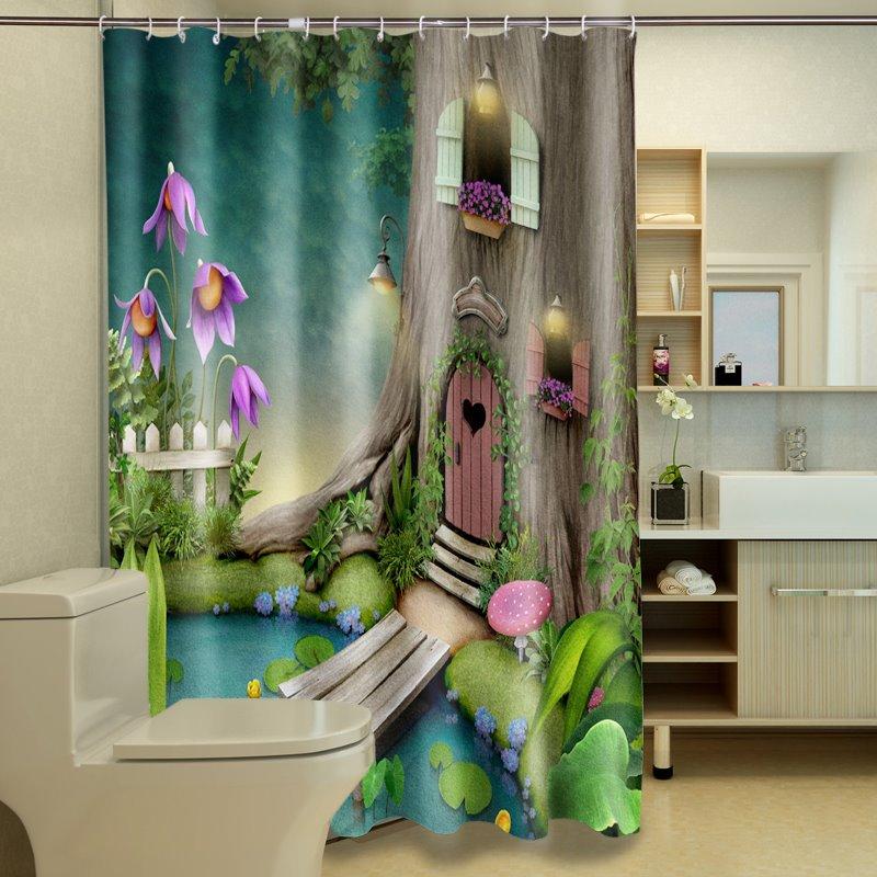 Excellent Beautiful Villatic Lodge 3D Shower Curtain