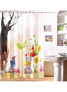 Fantastic Dreamy Castle Waterproof 3D Shower Curtain