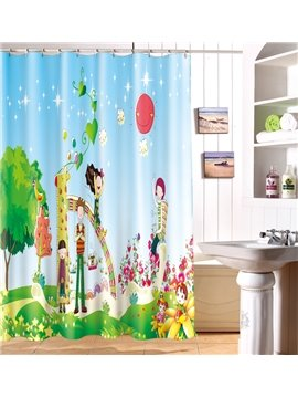Unforgettable Wonderful Time Cartoon Image 3D Shower Curtain