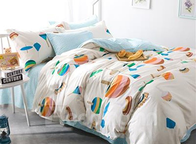 Western Style Concise Pattern 4-Piece Duvet Cover Sets