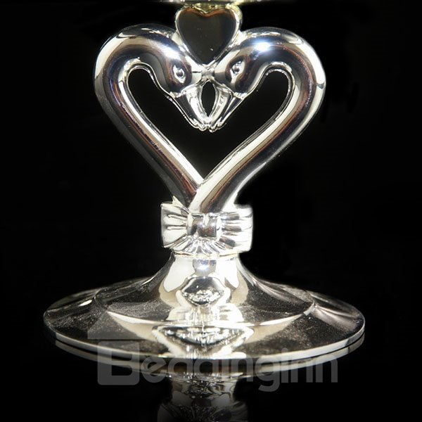 Wonderful Romantic Glass Swan Design Candle Holder